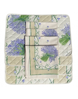 Set placemats & servetten lavendel